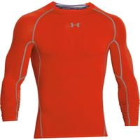 Men's UA HeatGear Armour Long Sleeve Compression Shirt - Dark Orange