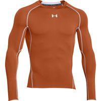 Men's UA HeatGear Armour Long Sleeve Compression Shirt - Texas Orange Afs