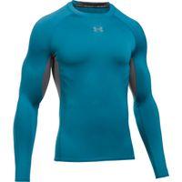 Men's UA HeatGear Armour Long Sleeve Compression Shirt - Bayou Blue
