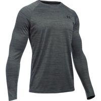 Men's UA Tech Patterned Long Sleeve TShirt - Black