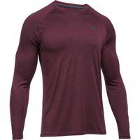 Men's UA Tech Patterned Long Sleeve TShirt - Raisin Red