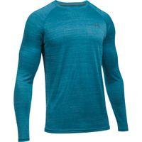 Men's UA Tech Patterned Long Sleeve TShirt - Bayou Blue