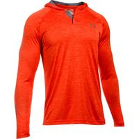 Men's UA Tech Popover Hoodie - Dark Orange