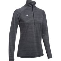 Women's UA Stripe Tech 1/4 Zip - Black