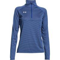Women's UA Stripe Tech 1/4 Zip - Royal