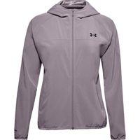 Women's UA Woven Branded Full Zip Hoodie - Slate Purple