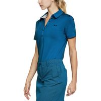 Women's UA Zinger Short Sleeve Polo - Moroccan Blue Afs