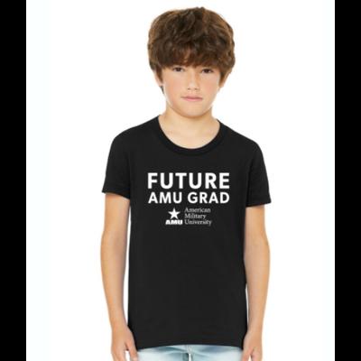 AMU - BELLA+CANVAS  ®  Youth Jersey Short Sleeve Tee. BC3001Y - Black