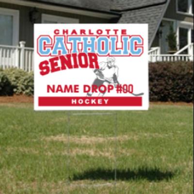 Hockey Senior Yard Sign
