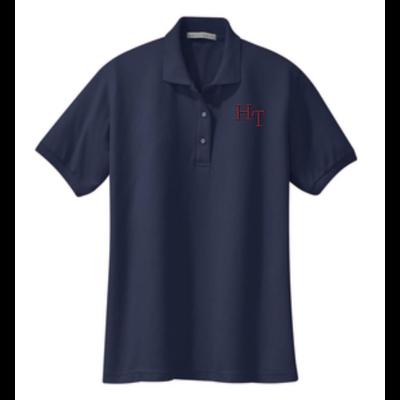 Ladies Stain-Resistant Button Polo Shirt