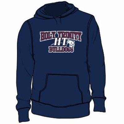 UA Hustle Fleece Hoody - Navy