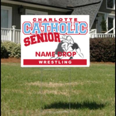Wrestling Senior Yard Sign