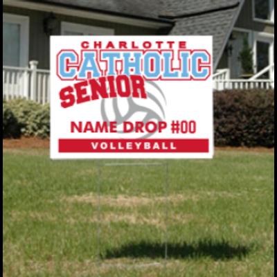 Volleyball Senior Yard Sign