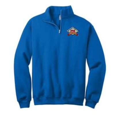 JERZEES NuBlend 1/4-Zip Cadet Collar Sweatshirt