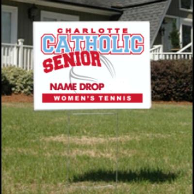 Women's Tennis Senior Yard Sign