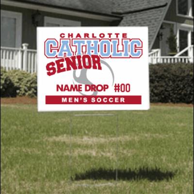 Men's Soccer Senior Yard Sign
