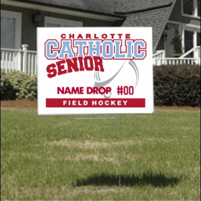 Field Hockey Senior Yard Sign