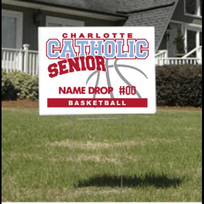Basketball Senior Yard Sign