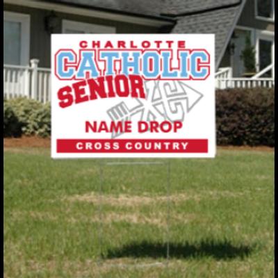 Cross Country Senior Yard Sign