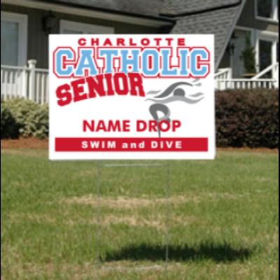 Swim and Dive Senior Yard Sign