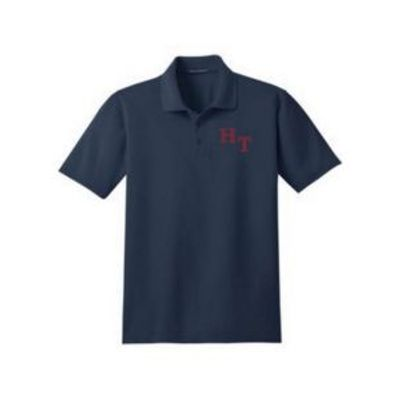 Stain-Resistant Button Polo Shirt